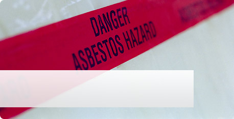 Photo of asbestos hazard warning